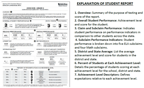 EXPLANATION OF STUDENT REPORT